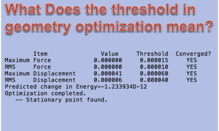 What Does Rms Mean >> What Does The Threshold In Geometry Optimization Mean