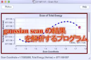 gaussian scan の結果を解析するプログラム